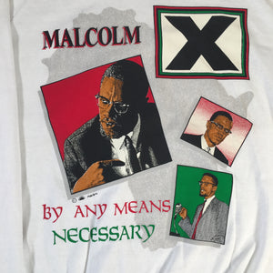 "Vintage Malcolm X ""By Any Means Necessary"" Crewneck"