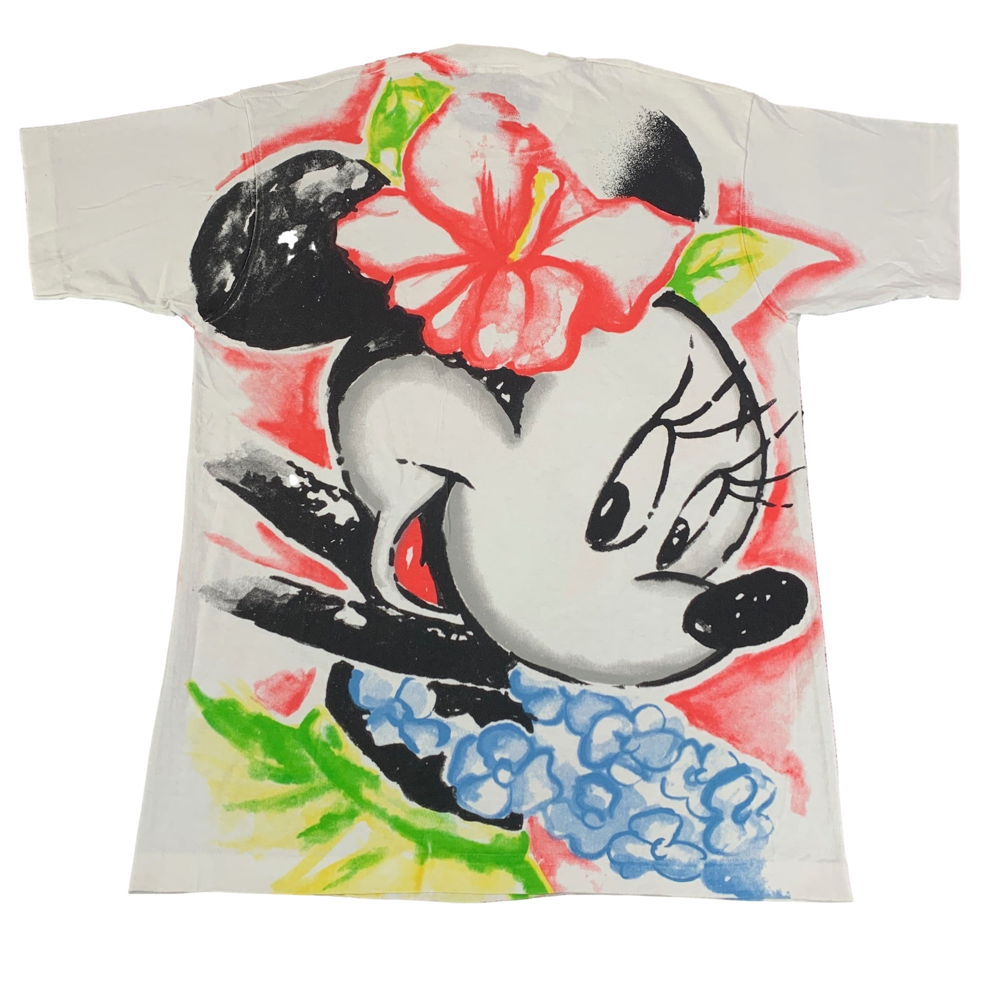 "Vintage Mickey By Jerry Leigh ""Minnie Mouse"" All Over Print T-Shirt"