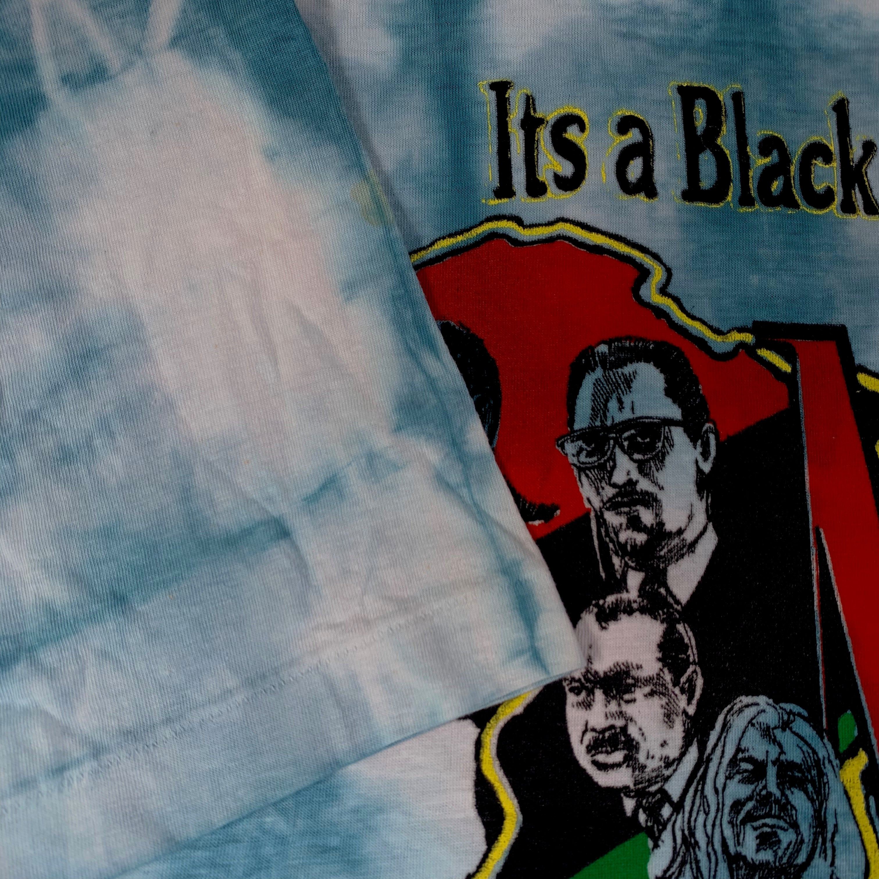 "Vintage MLK Malcolm X Bob Marley Mandela Garvey ""It's A Black Thing"" Tie Dye T-Shirt"