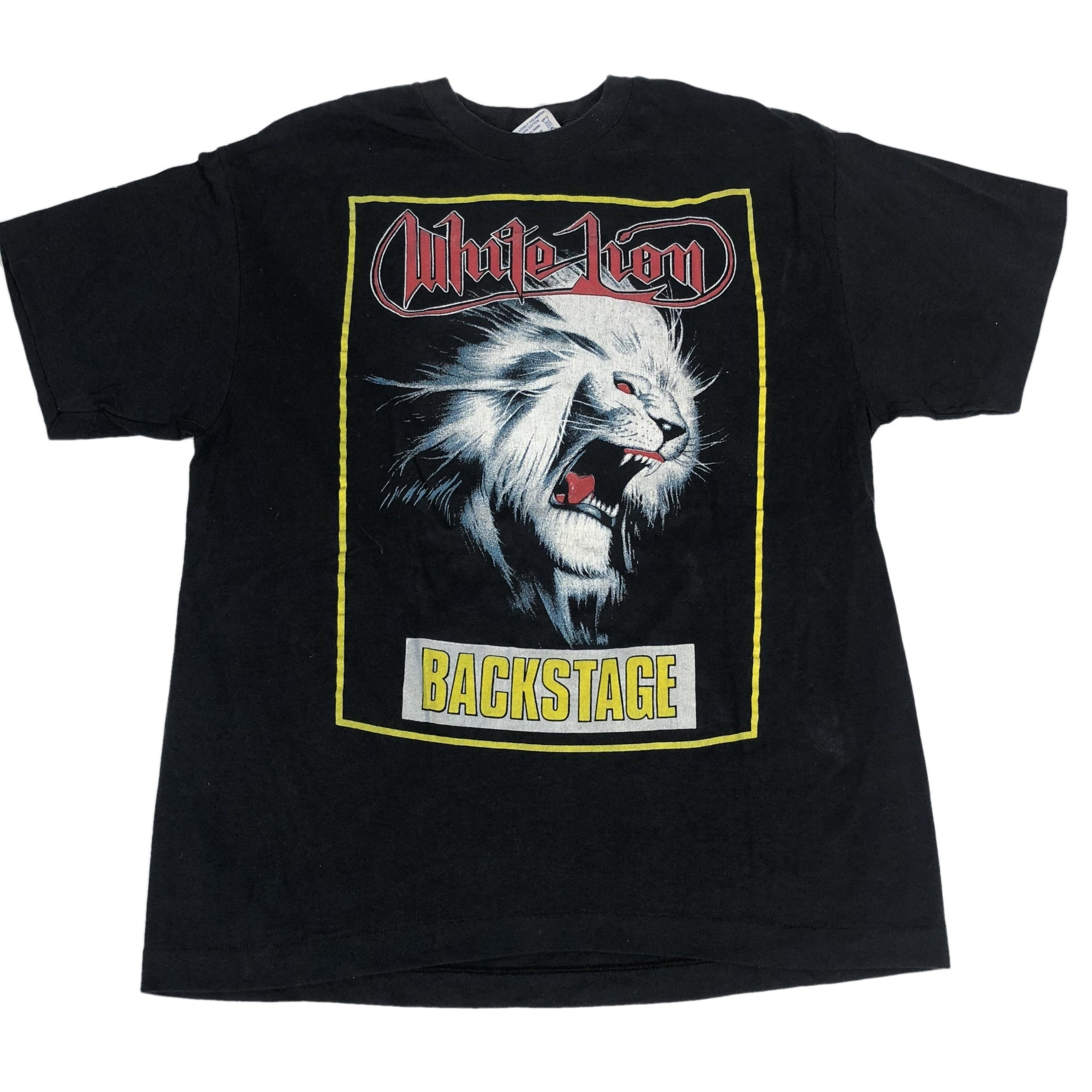 "Vintage White Lion ""Backstage"" T-Shirt"