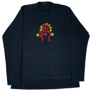 "Vintage Keith Haring ""Fingers Crossed"" Women's Pop Shop Long Sleeve Shirt"
