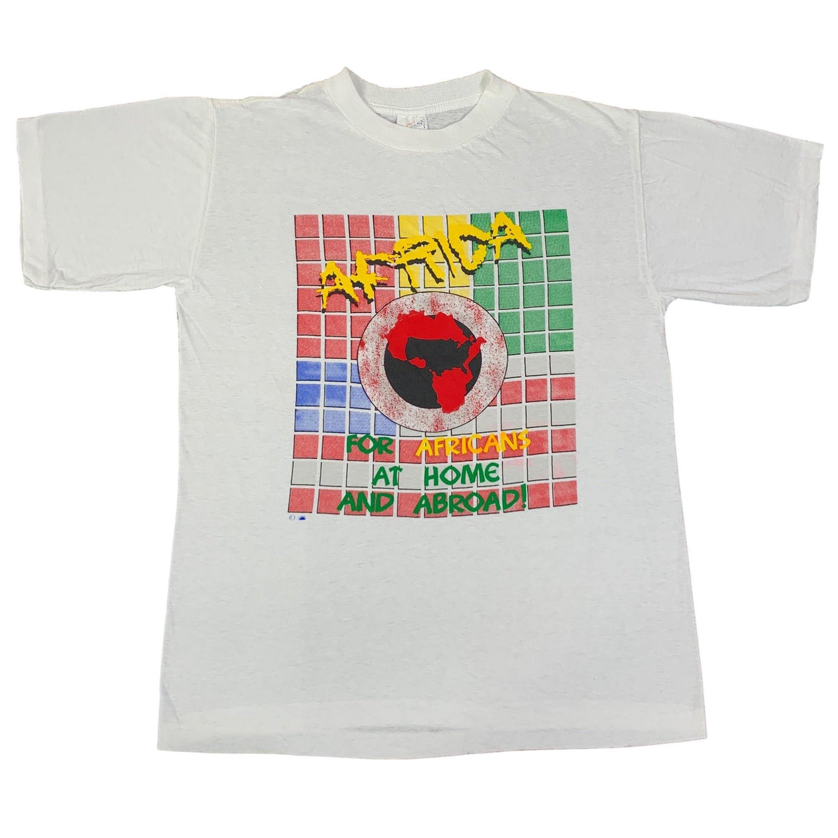 "Vintage Africa ""Home And Abroad"" T-Shirt - jointcustodydc"