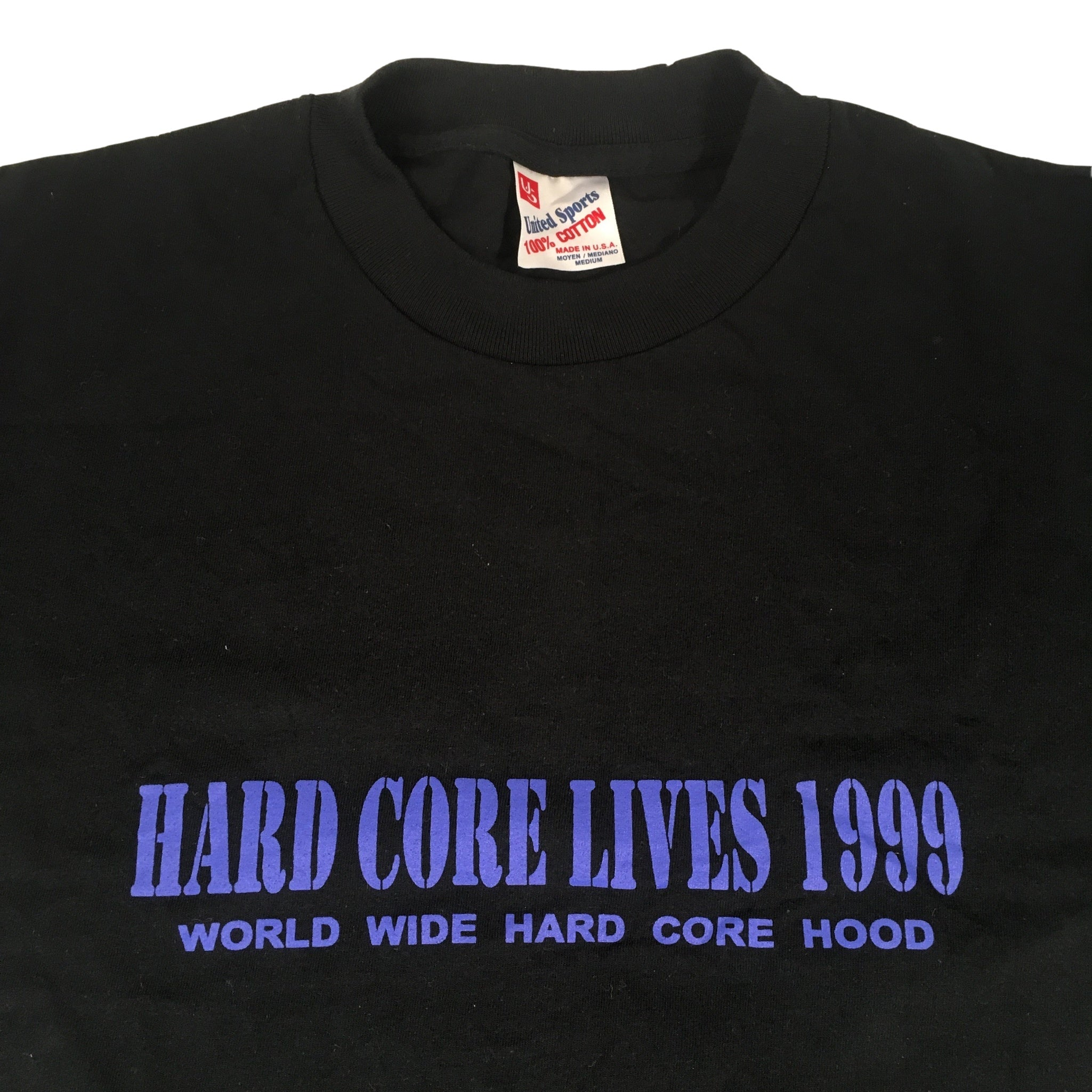 "Vintage Hard Core Ball 4 ""World Wide Hard Core Hood 1999"" T-Shirt"