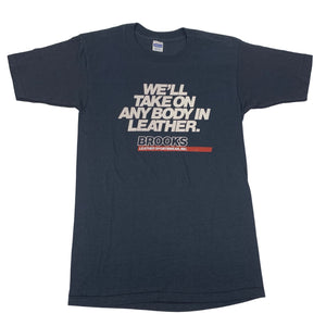 "Vintage Brooks Leather ""We'll take On Any Body"" T-Shirt"