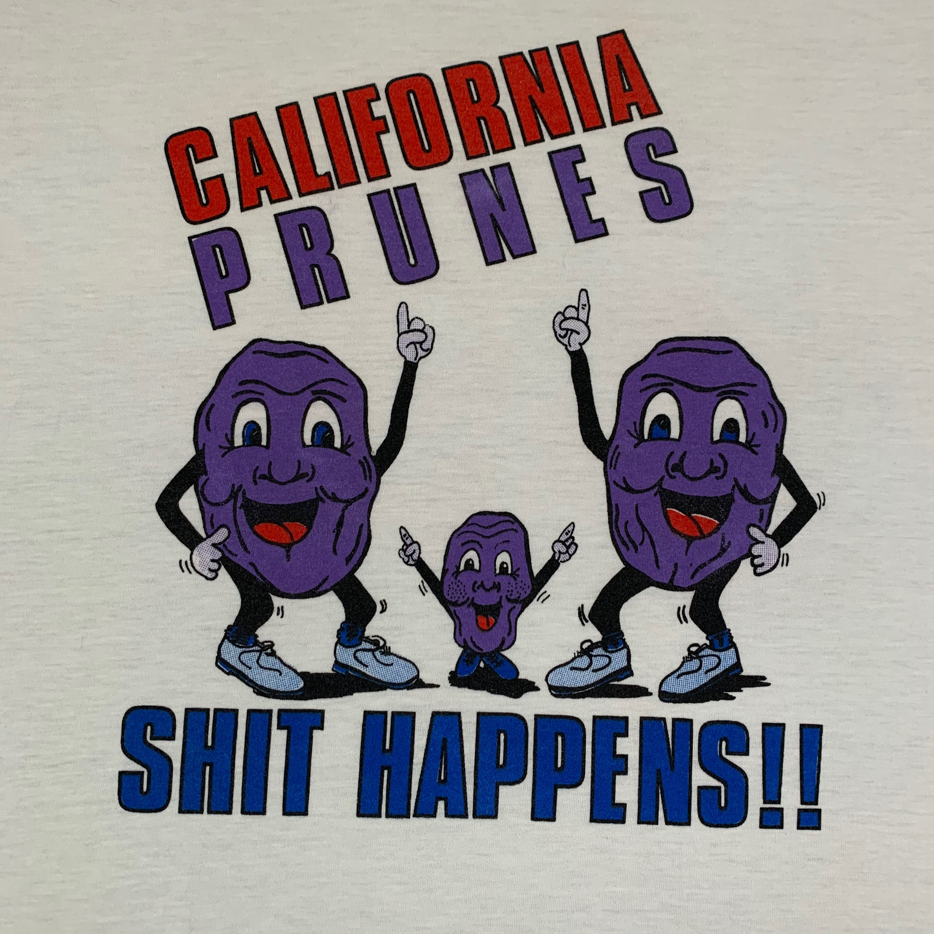 "Vintage California Prunes ""Sh*t Happens"" T-Shirt"