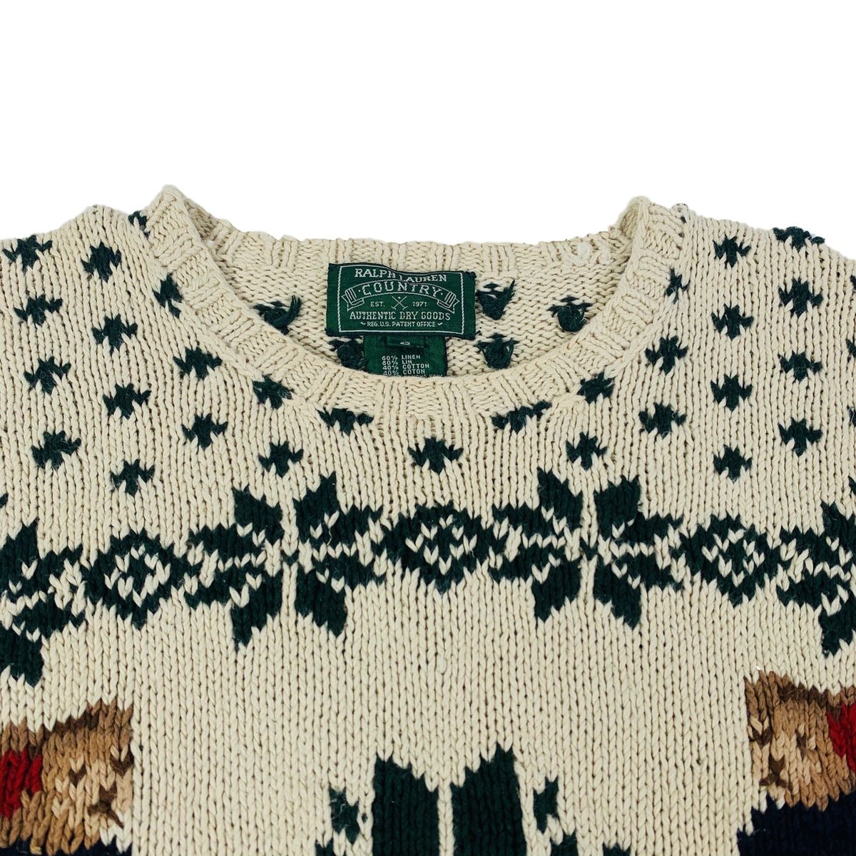 "Vintage Polo Ralph Lauren Country ""Ski Bear"" Knit"