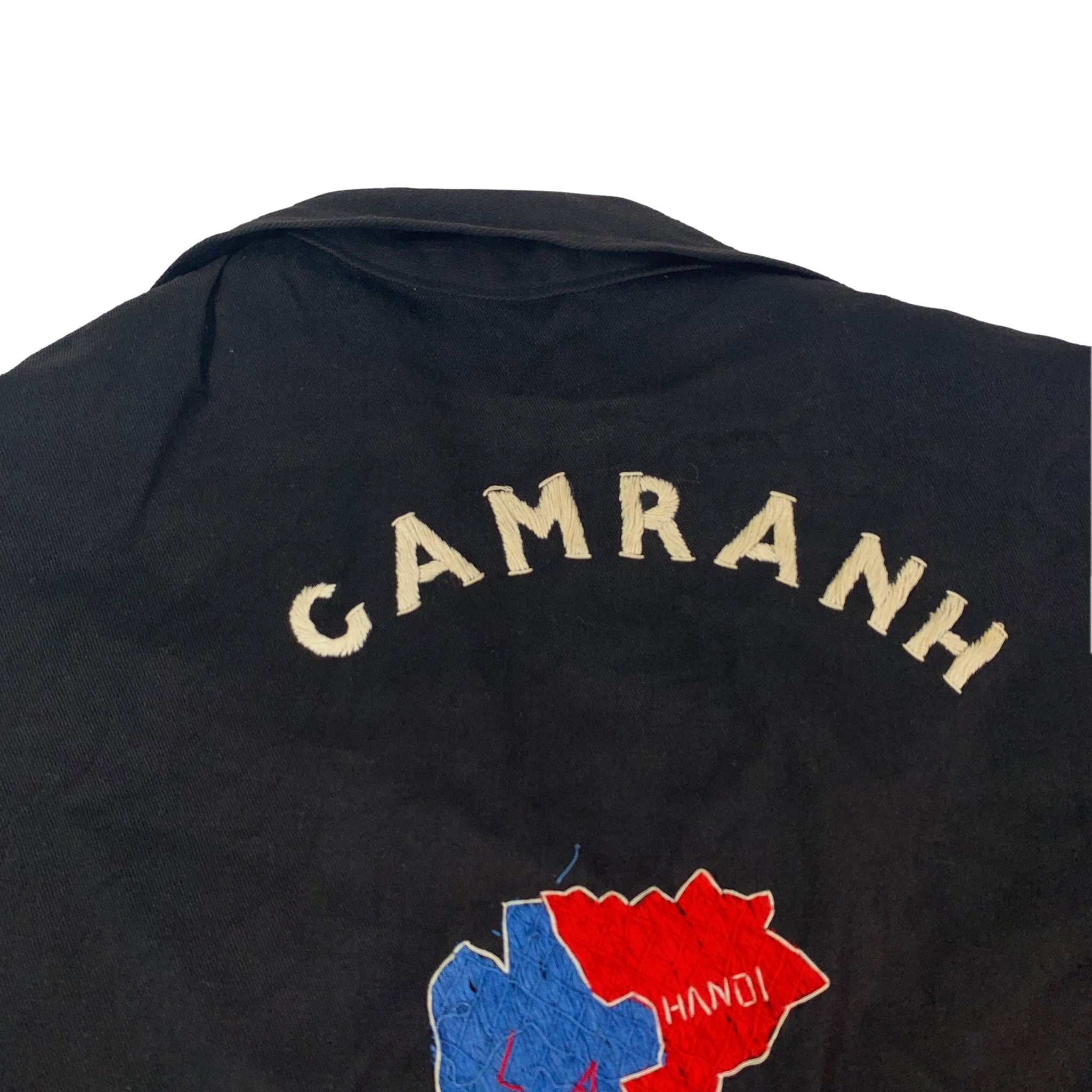"Vintage Black Vietnam War ""Camranh '67-'68"" Tour Jacket"