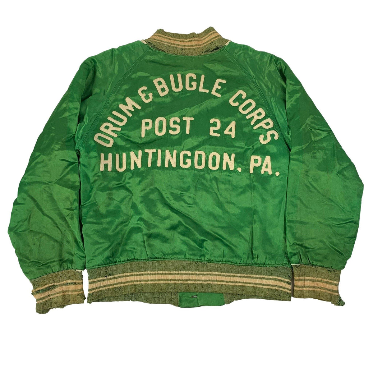 "Vintage Drum & Bugle Corps ""Huntingdon, PA."" Satin Jacket - jointcustodydc"