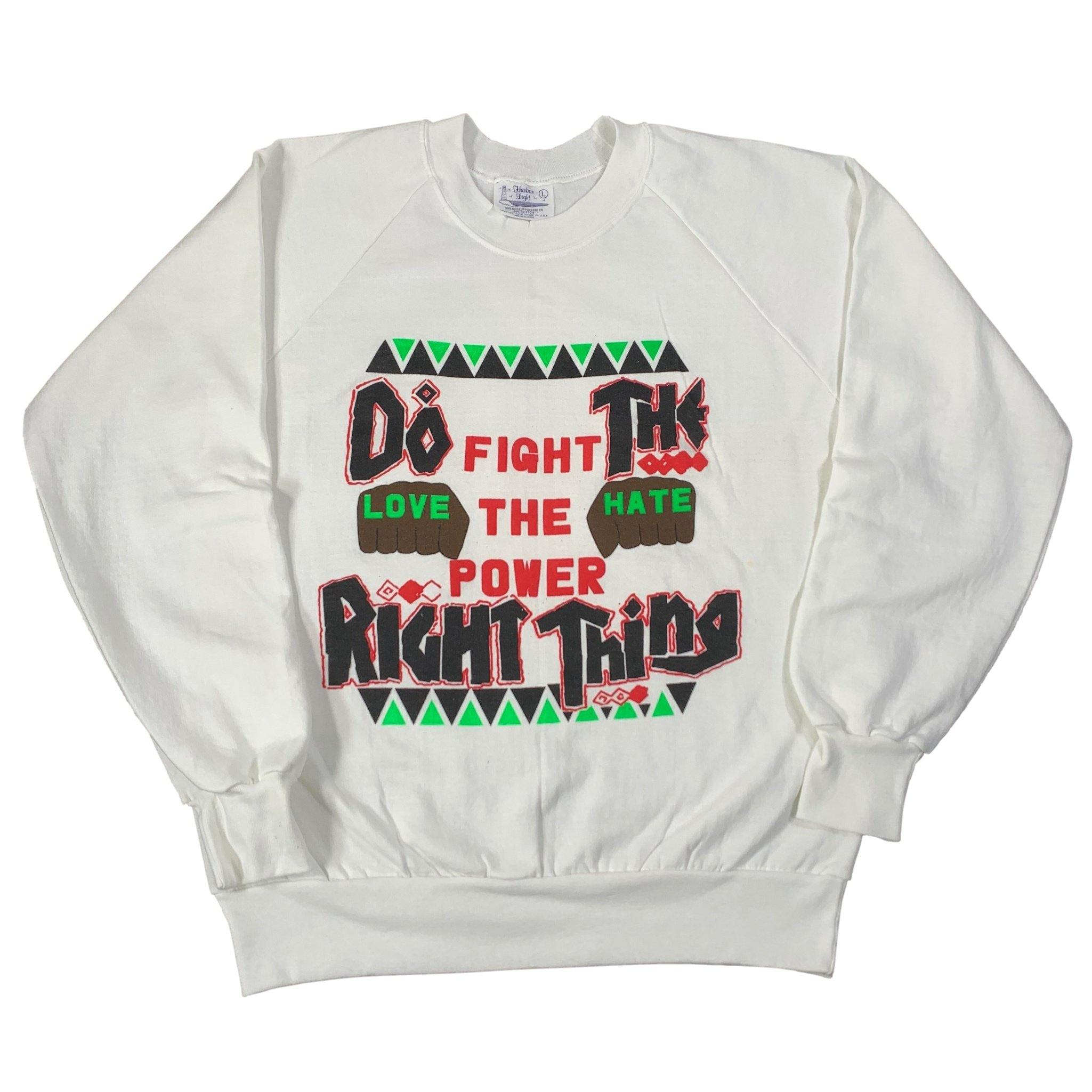 "Vintage Do The Right Thing ""Fight The Power"" Crewneck Sweatshirt"