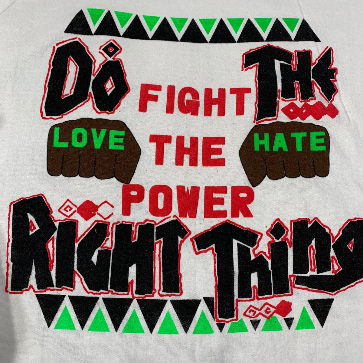 "Vintage Do The Right Thing ""Fight The Power"" Crewneck Sweatshirt - jointcustodydc"