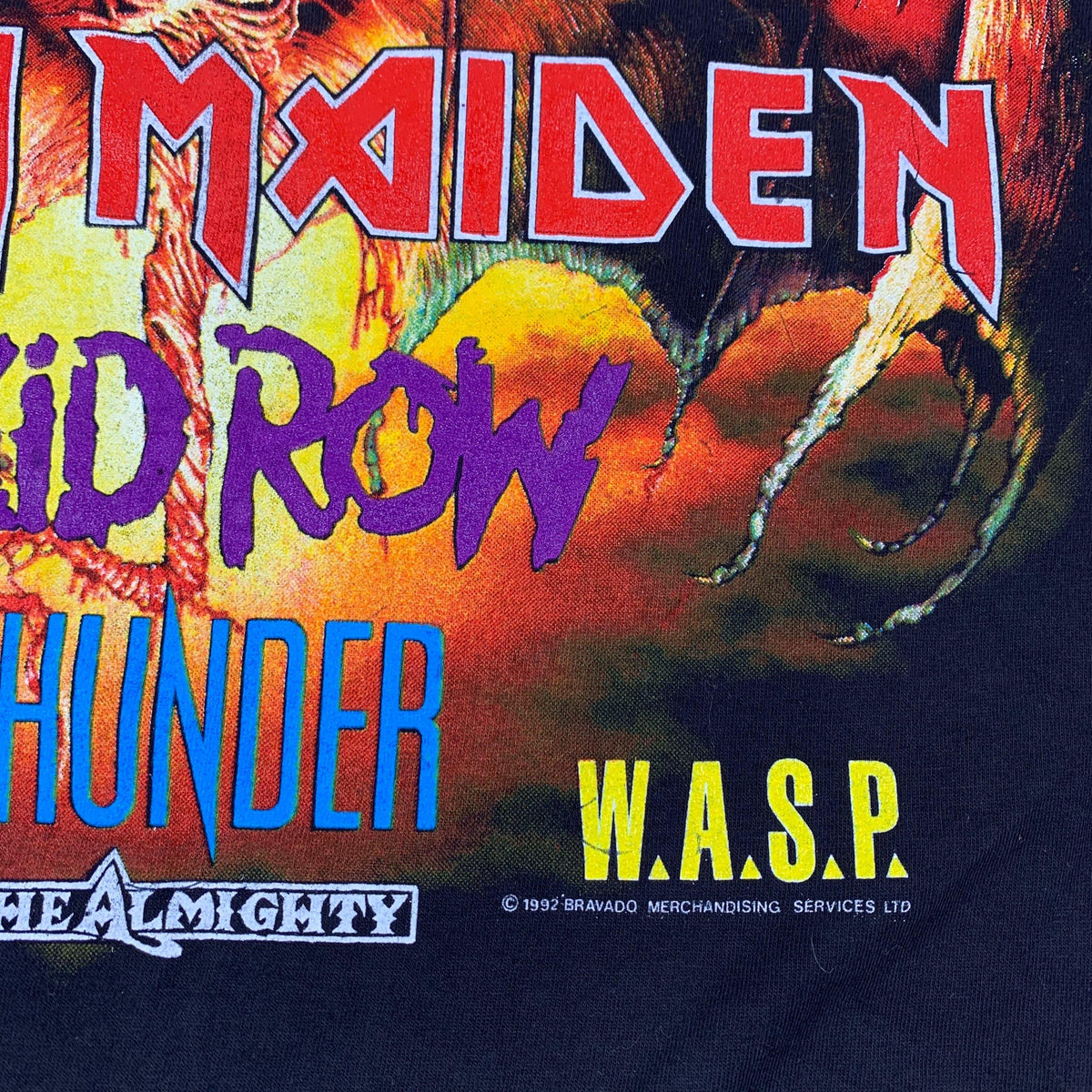 "Vintage Monsters Of Rock ""Iron Maiden / Wasp / Slayer"" T-Shirt - jointcustodydc"