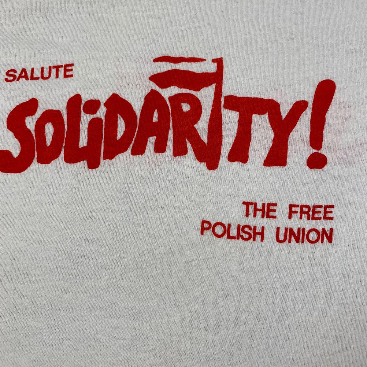 "Vintage Solidarity ""The Free Polish Union"" T-Shirt - jointcustodydc"