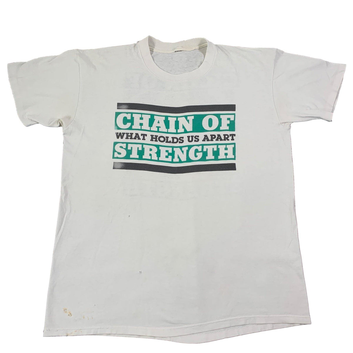 "Vintage Chain Of Strength ""What Holds Us Apart"" T-Shirt - jointcustodydc"