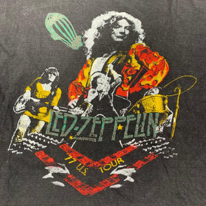 vintage original Led Zeppelin 1977 US tour shirt detail