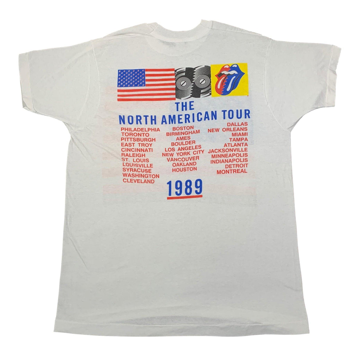 "Vintage Rolling Stones ""Steel Wheels '89"" Tour T-Shirt - jointcustodydc"