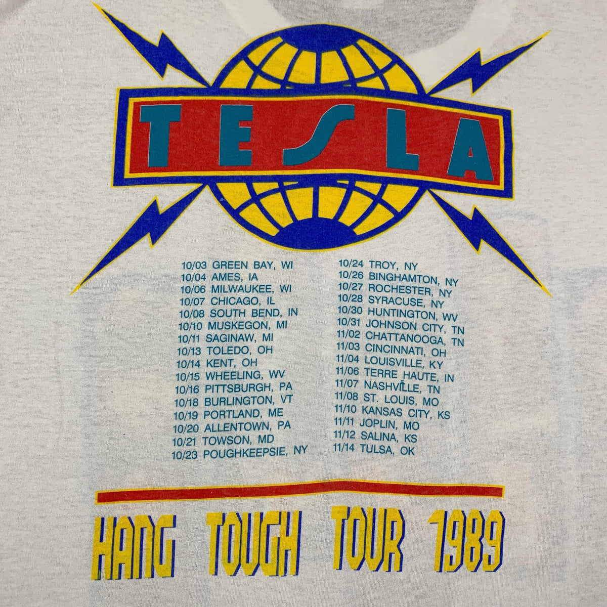 "Vintage Tesla ""Hang Tough"" Tour T-Shirt - jointcustodydc"