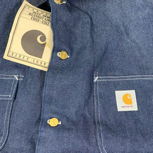 "Vintage Carhartt Blue Denim ""Blanket Lined"" Tall Coat"
