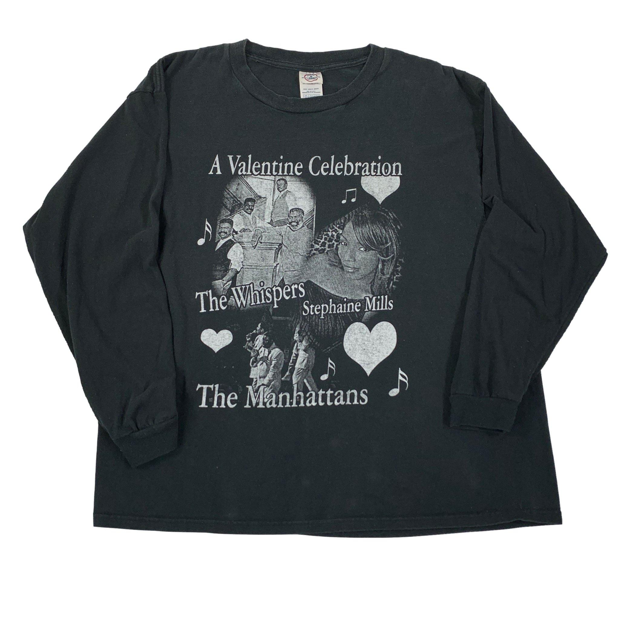 "Vintage The Manhattans ""A Valentine Celebration"" Long Sleeve Shirt"