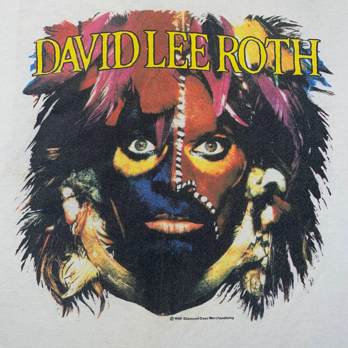 "Vintage David Lee Roth ""The World Tour"" T-Shirt - jointcustodydc"