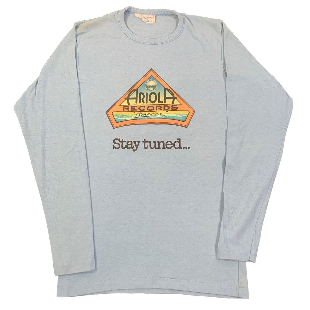 "Vintage Ariola Records America ""Stay Tuned..."" Long Sleeve Shirt"