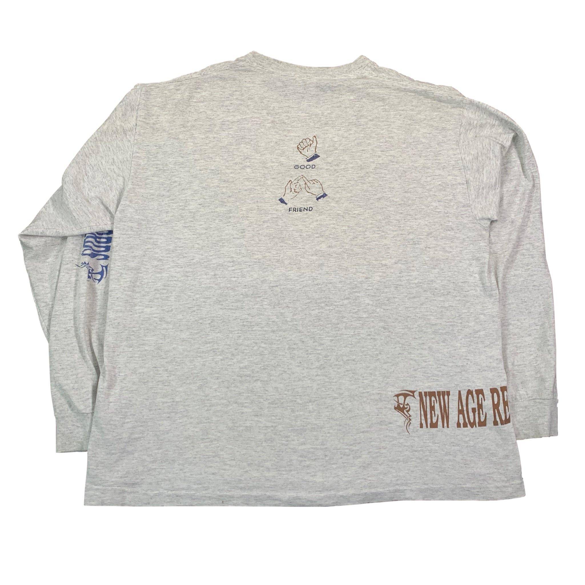 "Vintage New Age Records ""Sign Language"" Long Sleeve Shirt"