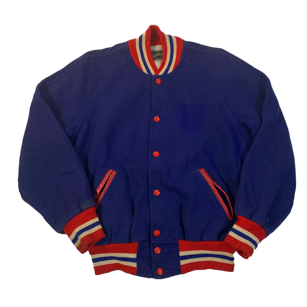 "Vintage Faul & Crymes Sporting Goods ""Wool"" Letterman Jacket"