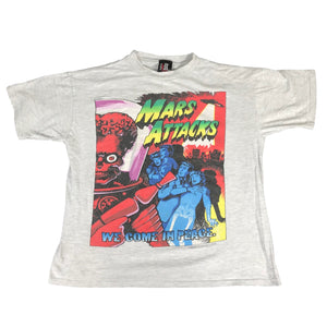 "Vintage Mars Attacks ""We Come in Peace"" T-Shirt"