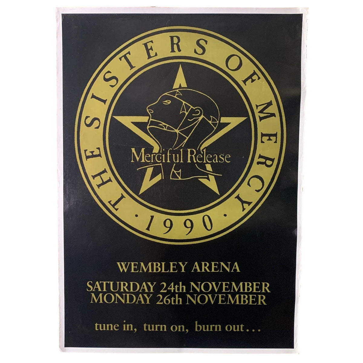"Vintage The Sisters Of Mercy ""Merciful Release"" Wembley Arena Poster"
