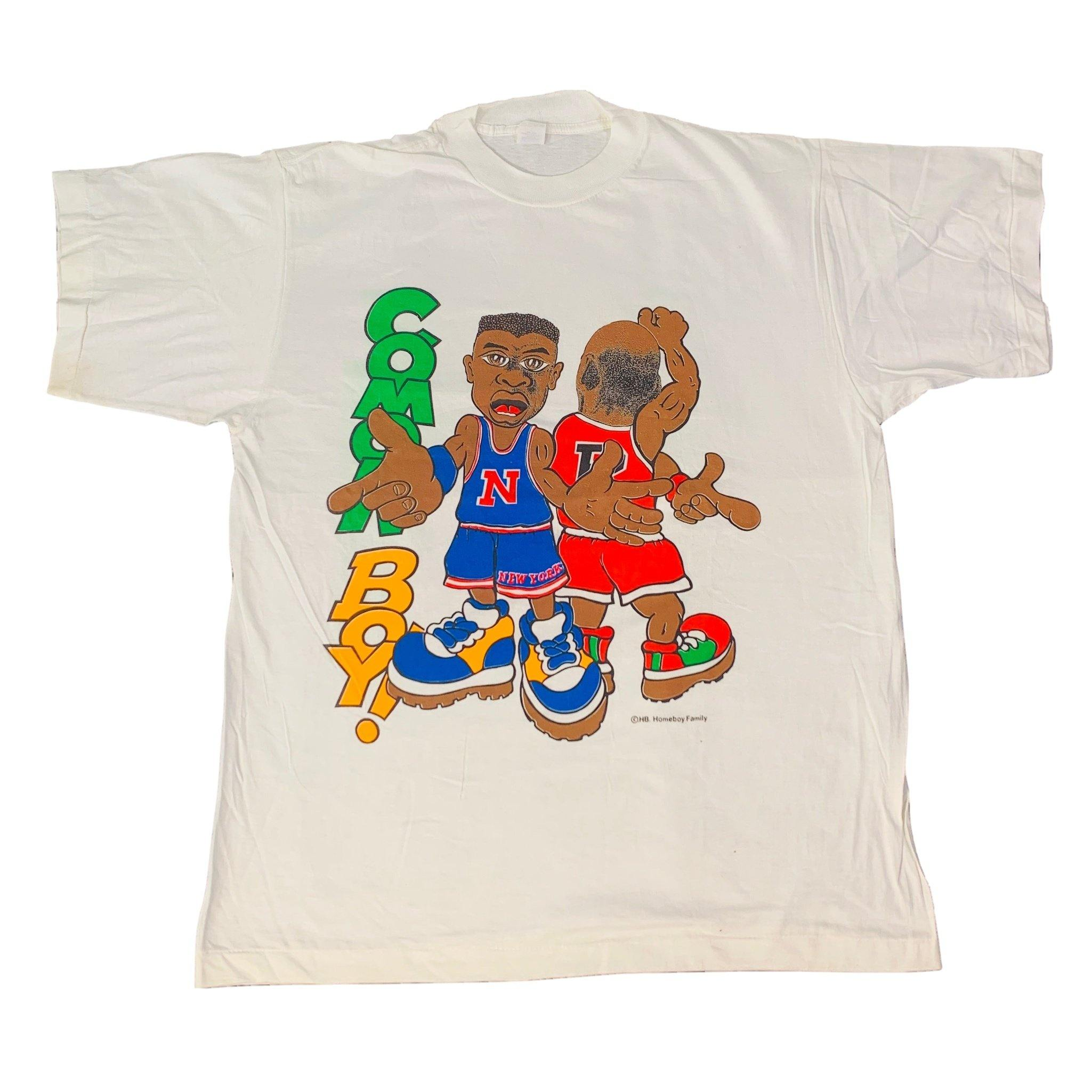 "Vintage New York Knicks Chicago Bulls ""Cmon Boy!"" T-Shirt"