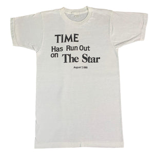 "Vintage The Washington Star ""Time Has Run Out"" T-Shirt"