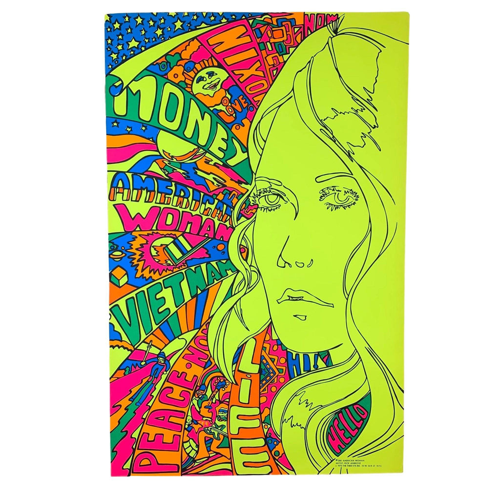 Vintage original 1970s American Woman by Third Eye Inc Poster