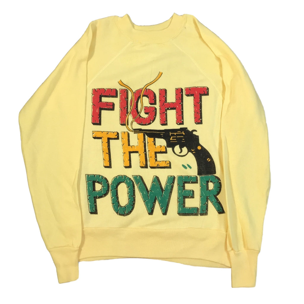 "Vintage Fight The Power ""Gun"" Crewneck Sweatshirt"