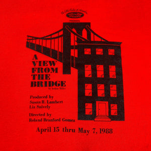 "Vintage Arthur Miller ""A View From The Bridge"" T-Shirt"