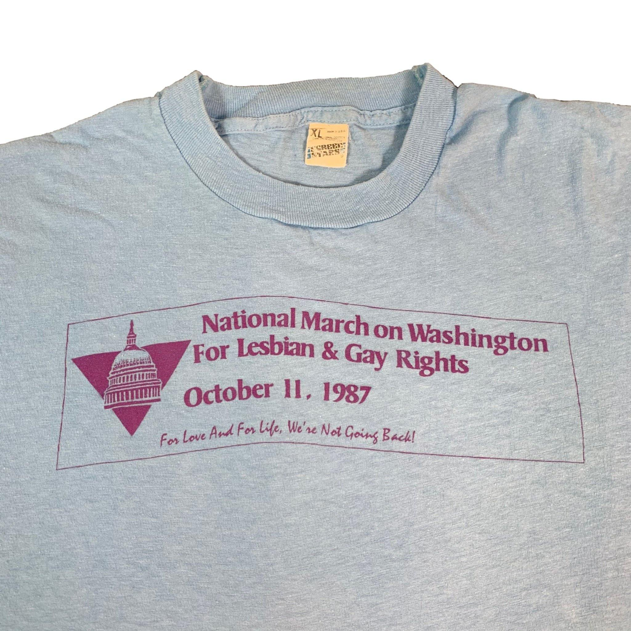 "Vintage March For Lesbian & Gay Rights ""1987"" T-Shirt"