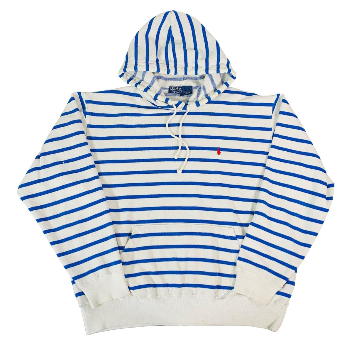 "Vintage Polo Ralph Lauren ""Striped"" Hooded Sweatshirt - jointcustodydc"