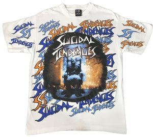 "Vintage Suicidal Tendencies ""All Over Print"" T-Shirt"