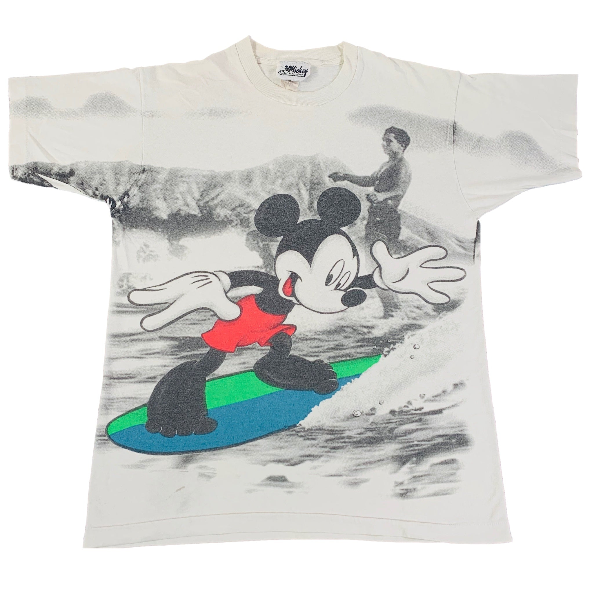 "Vintage Mickey Mouse By Jerry Leigh ""Disney"" All Over Print T-Shirt"
