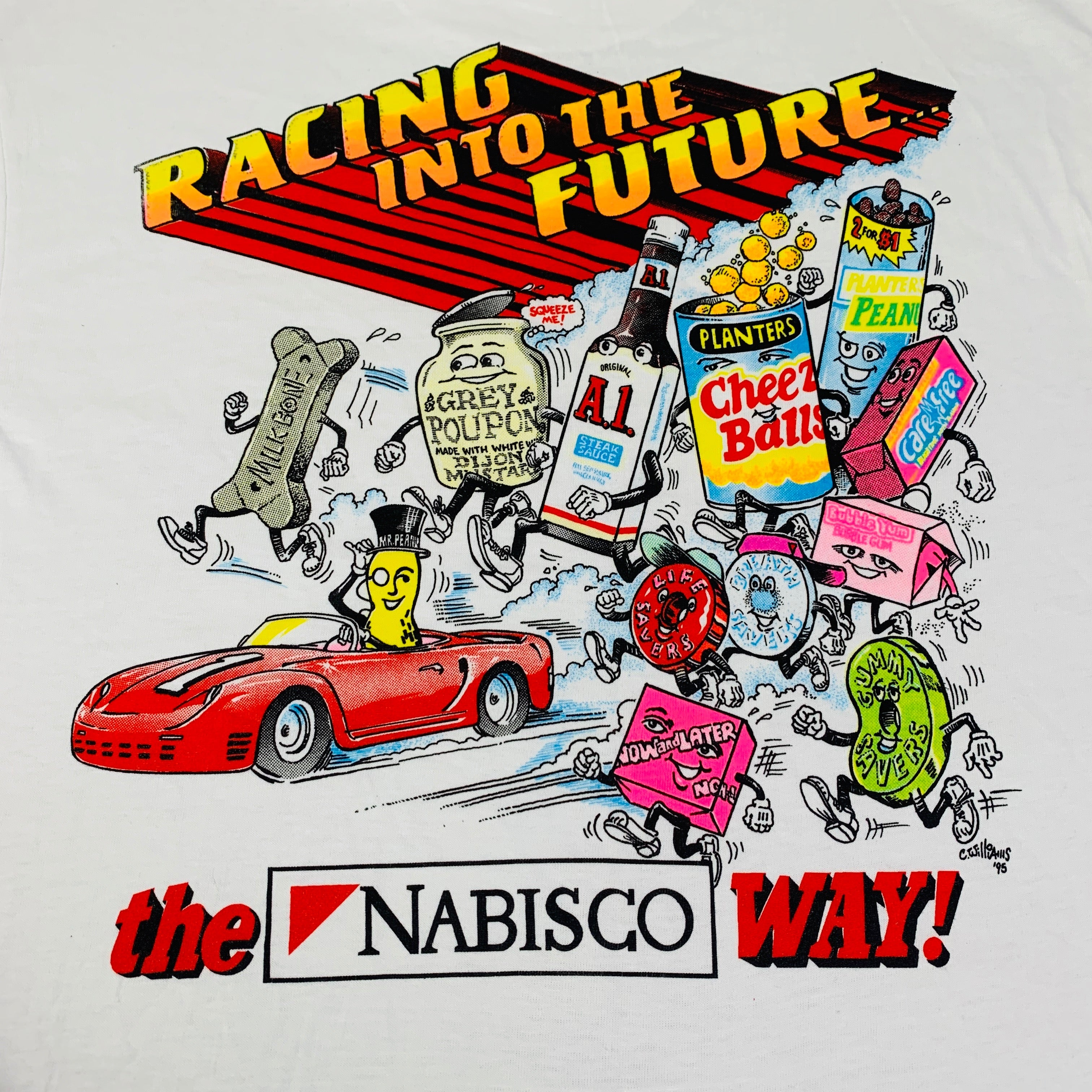 "Vintage Team Nabisco ""Racing Into The Future"" T-Shirt"