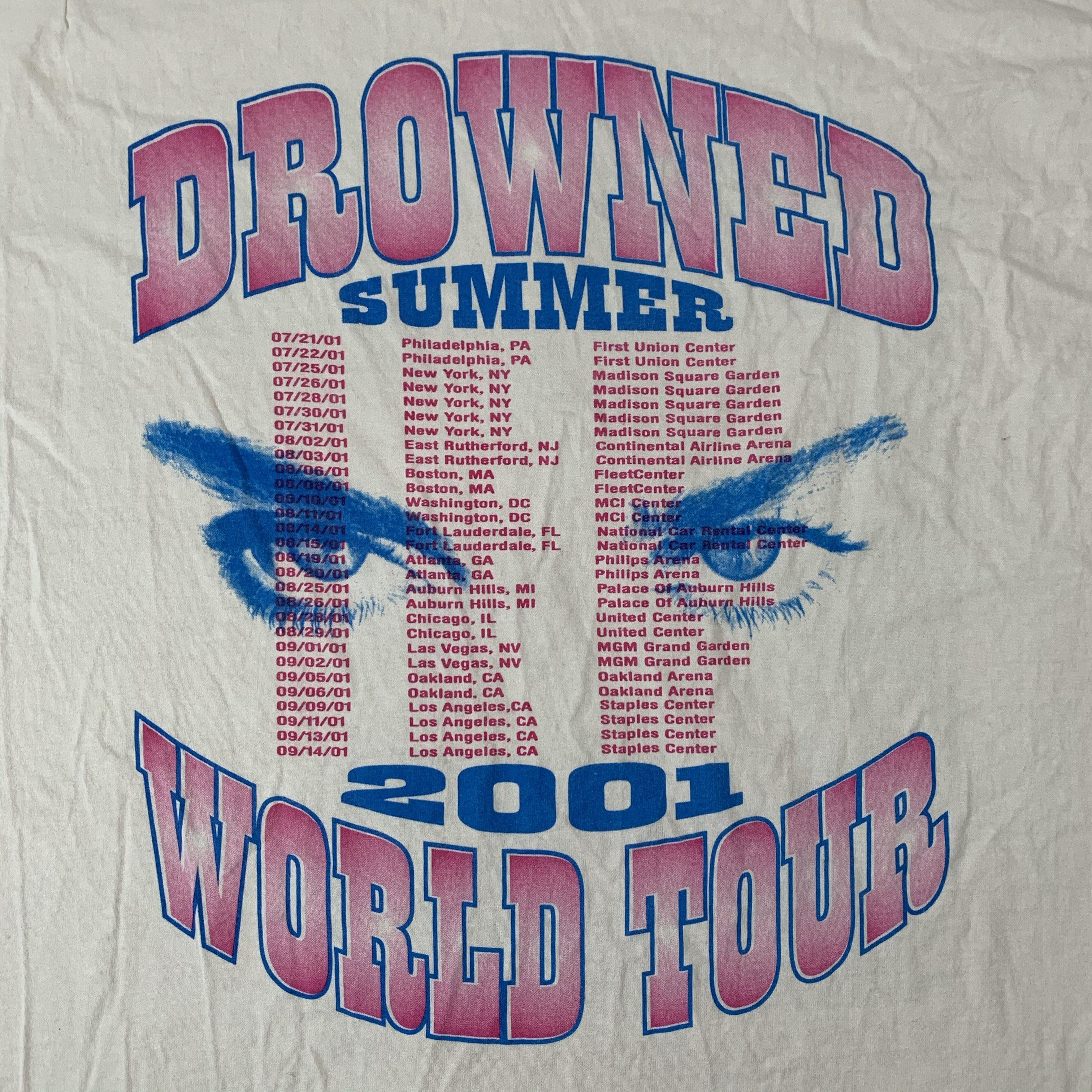 Vintage Madonna Drowned 2001 Tour Shirt Detail