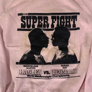 "Vintage Hagler Vs. Leonard ""The Super Fight"" Raglan Sweatshirt"