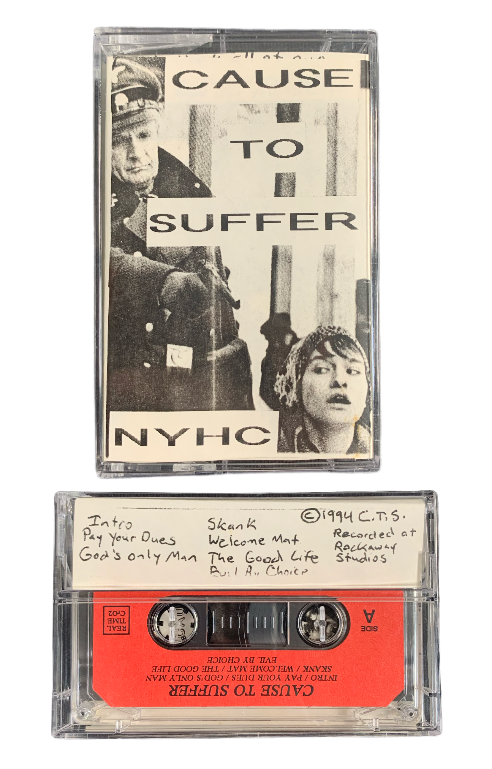 "Vintage Cause To Suffer ""NYHC"" 1994 Demo Tape - jointcustodydc"