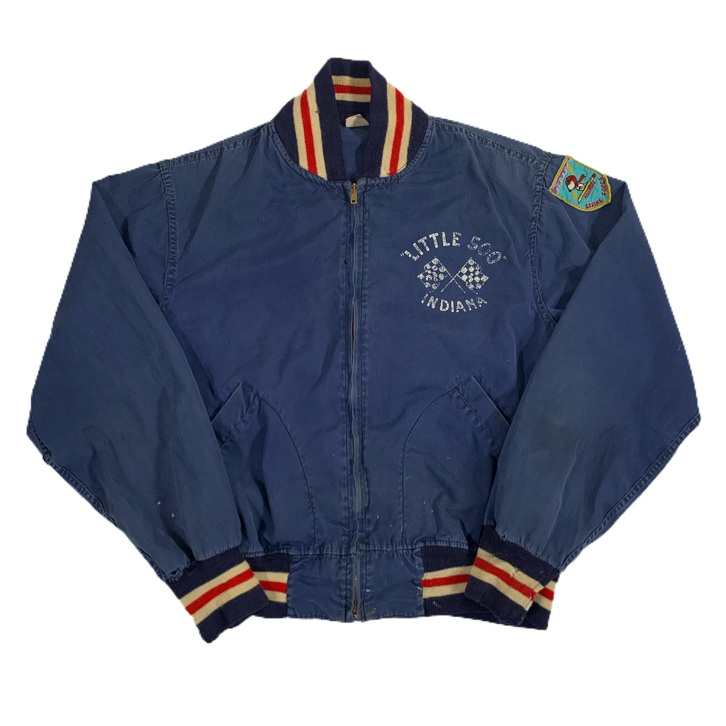 "Vintage Peanuts Little 500 Indiana ""Champion Runner"" Snoopy Jacket"