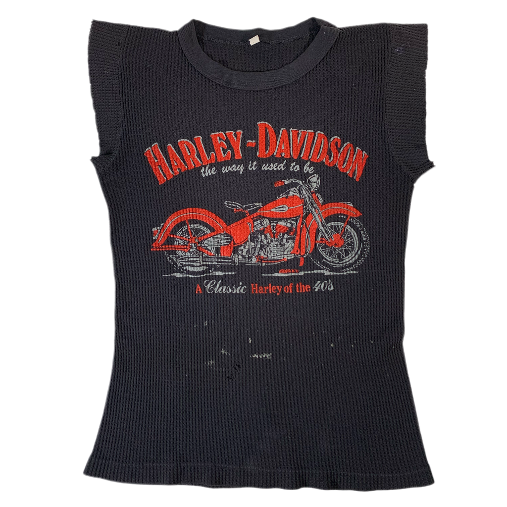 "Vintage Harley-Davidson ""The Way It Used To Be"" Thermal Shirt"