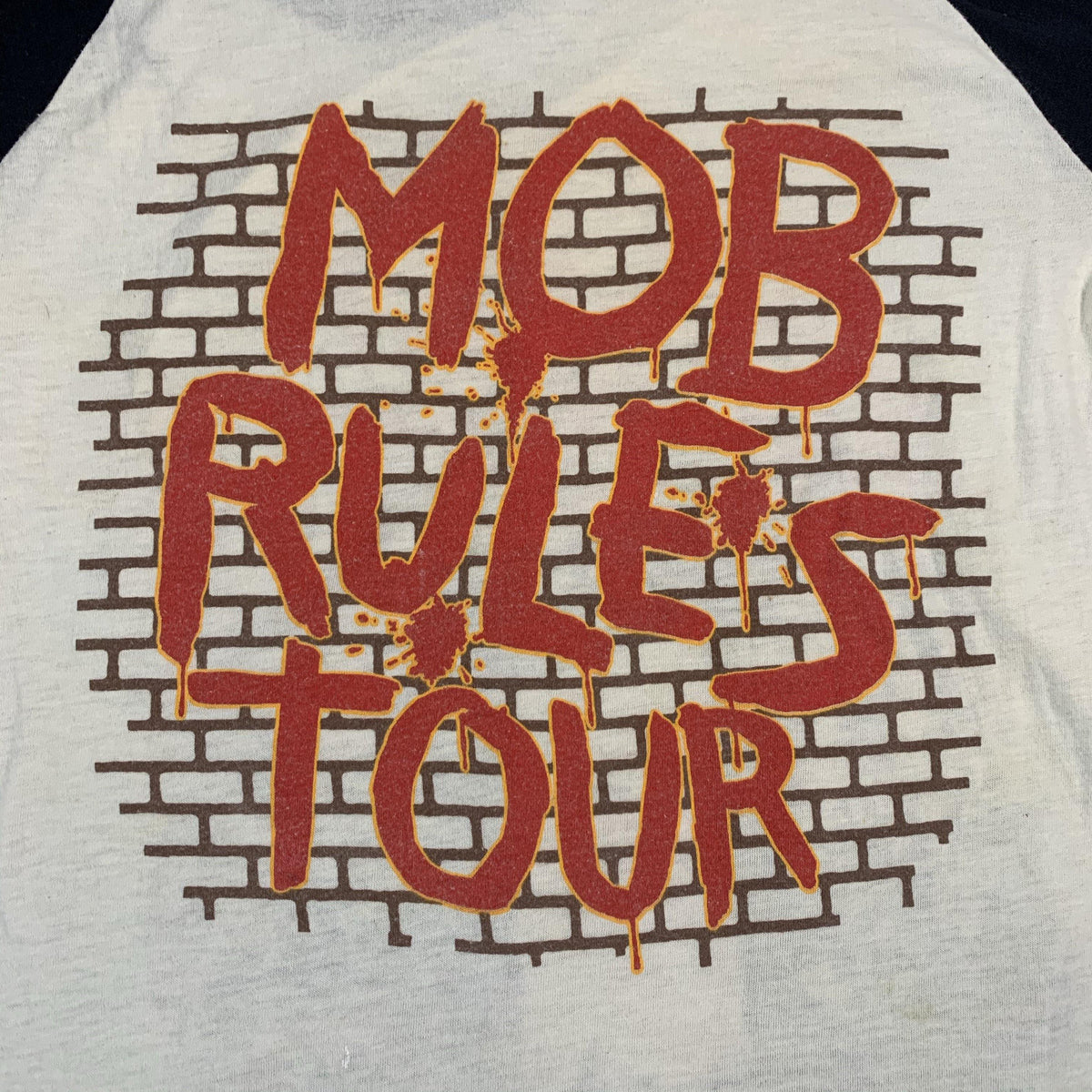 "Vintage Black Sabbath ""Mob Rules"" Raglan Shirt"