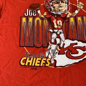 "Vintage Kansas City Chiefs ""Joe Montana"" T-Shirt"