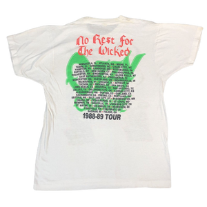"Vintage Ozzy Ozbourne ""No Rest For The Wicked Tour '88-89"" T-Shirt"