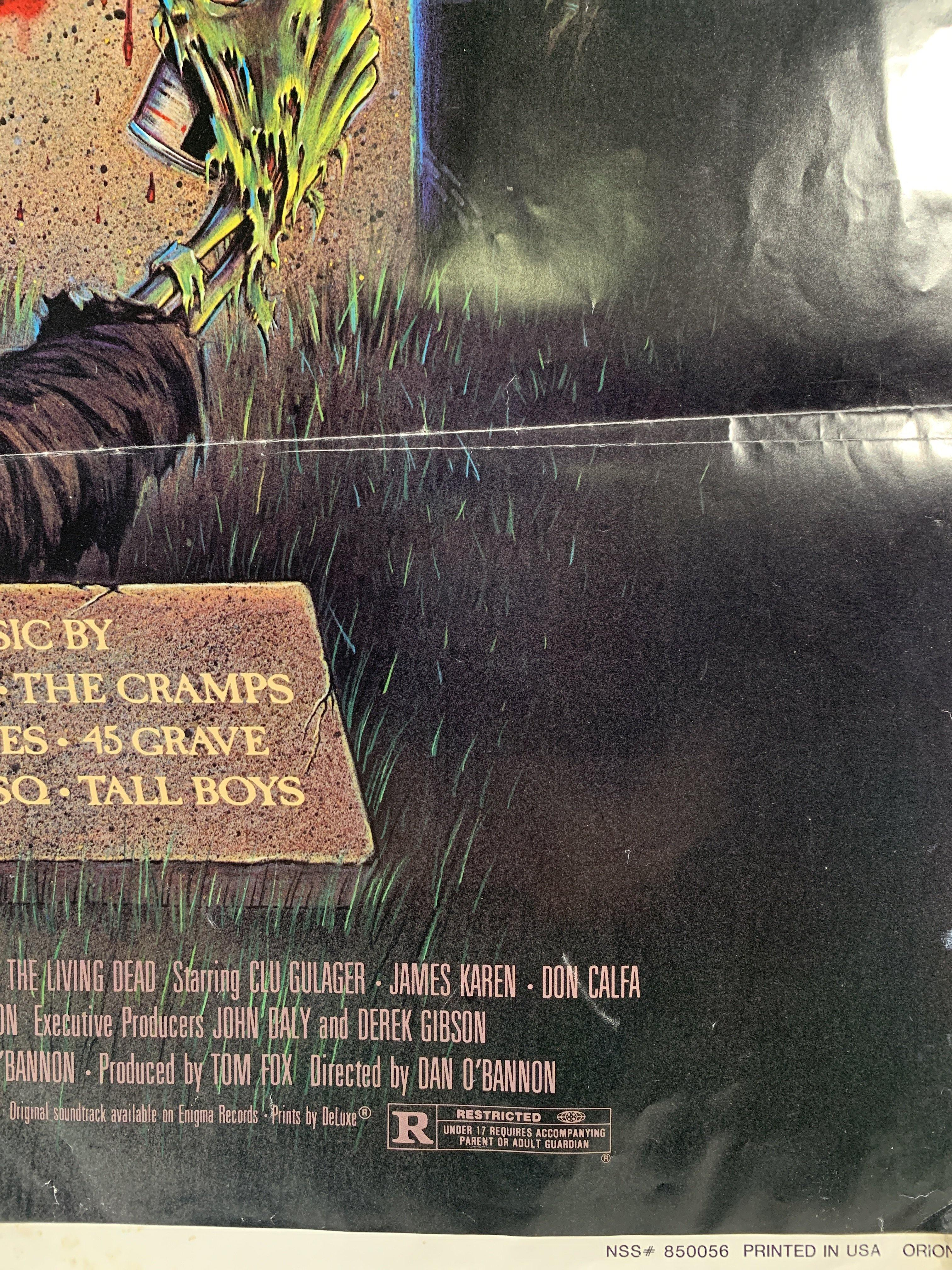 Vintage Original 1985 The Return Of The Living Dead Thorn One Sheet Poster Detail