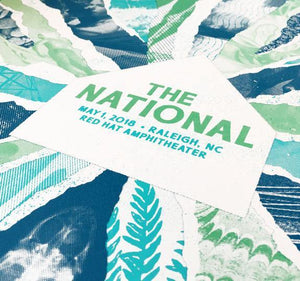 "The National ""The Half And Half"" Raleigh Show Poster"