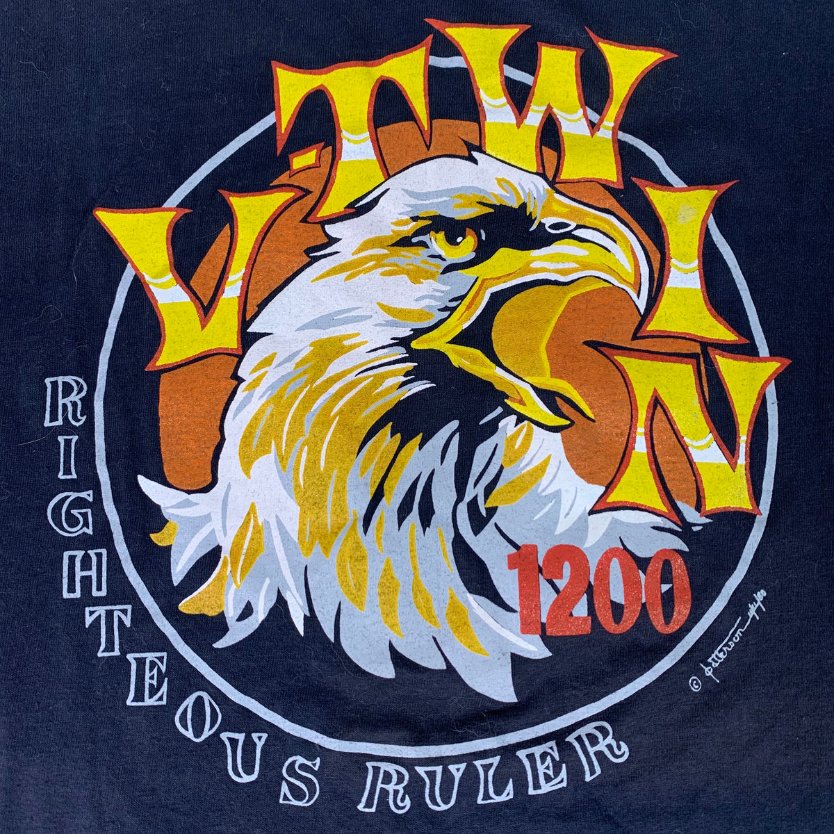 "Vintage Righteous Ruler ""1200 V-Twin"" T-Shirt"