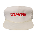 "Vintage Compaq ""Computers"" Leather Strap Hat"